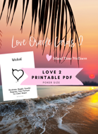 Island Time Wellness Love Oracle Cards 2 PDF in Both A4 Europe and USA letter sizes WITH GRAPHICS