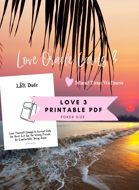 LOVE ORACLE CARDS 3 PDF | A4 Europe and USA sizes | Tarot Reading Romance Twin Flame Soulmate Island Time Wellness