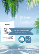 LAW OF ATTRACTION ORACLE CARDS PDF [PRINTABLE CARDS] BY ISLAND TIME WELLNESS | POKER SIZE WHITE | BOTH A4 EUROPE AND US LETTER SIZES INCLUDED