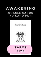 Island Time Wellness Awakening Oracle Cards and Relt Picture Cards  PDF | Tarot Size | A4 and US Letter | BOTH DECKS - BOTH SIZES PDF