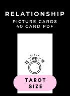 Island Time Wellness Relationship Picture Cards PDF | Tarot Size | 40 Card Deck