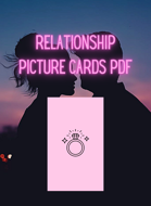 Relationship Picture Cards PDF ONLY | Printable Cards in Pink + Black [and in Printer-Friendly White w Black] | Tarot Size | A4 Europe and US Letter