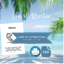 Law of Attraction PDF Poker White A4 + US