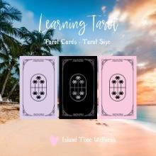Learning Tarot - Tarot Size - Palms Back