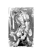 Creature Art - Gnoll Mutant - RPG Stock Art