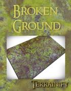 Broken Ground Gaming Mat 44x60 Strike Force Size