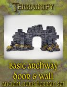 Ancient Ruins: Basic Archway Door Wall