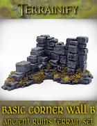 Ancient Ruins: Basic Corner Wall B