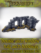 Ancient Ruins: Double Arch Window - Half Arch Doorway