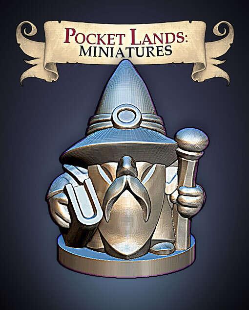 Pocket Lands Miniatures: Wizard
