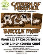4 sheet BATTLEMAP cavern hrrthul