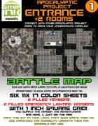 6 sheet BATTLEMAP apocalyptic set 1 entrance
