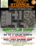 6 sheet BATTLEMAP apocalyptic set 3 storage