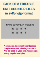 EDITABLE  COLDWAR ERA  EUROPEAN Air Unit Counters for replacement and extension of your own boardgames