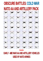 OBSCURE BATTLES 2 - COLD WAR -EXTRA NATO AA AND ARTILLERY UNITS BUNDLE#1 - EARLY-MID