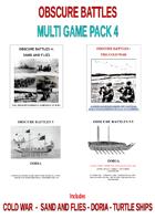 MULTIGAMEPACK 4 DORIA-COLDWAR-SAND AND FLIES-TURTLE SHIPS