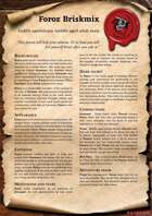 Scrolls of Adventures: NPC - Foroz Briskmix