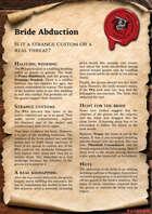 Scrolls of Adventures: Adventure Plot - Bride Abduction