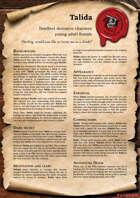 Scrolls of Adventures: NPC - Talida