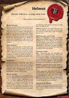 Scrolls of Adventures: NPC - Helmut