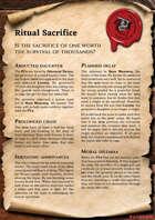 Scrolls of Adventures: Adventure Plot - Ritual Sacrifice