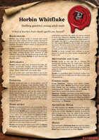 Scrolls of Adventures: NPC - Horbin Whitfluke