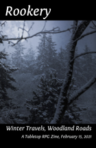Rookery: Winter Travels, Woodland Roads - 15 Backgrounds for Troika!