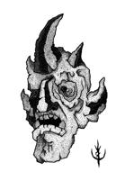GARGOYLE HEAD -Stock art