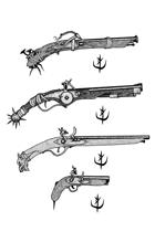Weapons pack - Pistols 1 - Stock Art
