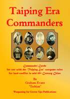 Taiping Era Commanders
