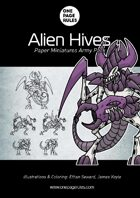 Alien Hives Army Pack - Paper Miniatures