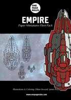 Empire Fleet Pack - Paper Miniatures