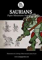 Saurians Army Pack - Paper Miniatures