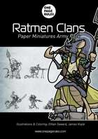 Ratmen Clans Army Pack - Paper Miniatures