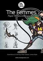 The Femmes Gang Pack - Paper Miniatures