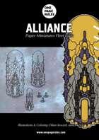 Alliance Fleet Pack - Paper Miniatures