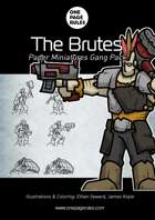 The Brutes Gang Pack - Paper Miniatures