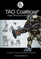 TAO Coalition Army Pack - Paper Miniatures