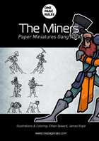 The Miners Gang Pack - Paper Miniatures
