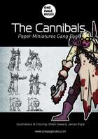 The Cannibals Gang Pack - Paper Miniatures