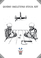 Quirky Skeletons Stock Art