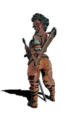Orc Warrior Girl - Stock Art