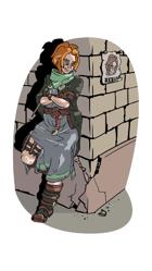 Human Rogue Girl - Stock Art