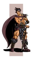 Old-school Barbarian - Stock Art