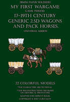 Generic 2.5D wagons and pack horses. 17-19century.