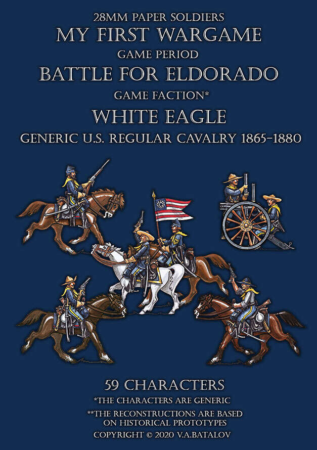 White Eagle. Generic U.S. regular cavalry 1865-1880