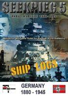 SEEKRIEG 5 Ship Logs - Germany 1880-1945