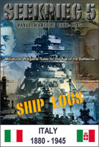 SEEKRIEG 5 Ship Logs - Italy 1880-1945