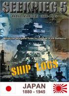 SEEKRIEG 5 Ship Logs - Japan 1880-1945