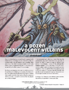 A Dozen Malevolent Villains